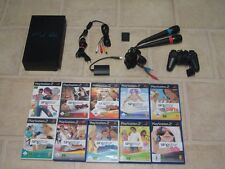 Playstation 2 komplett mit Controller + 10 Singstar Spiele + Micros + MC PS2