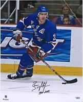 "Brian Leetch New York Rangers Signed 16"" x 20"" Skating Photo & HOF 2009 Insc"