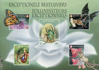Belgium 2019 MNH Pollinators 5v M/S Butterflies Beetles Bats Insects Stamps