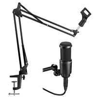 Microphone Desk Arm Stand Mount Boom Scissor For Audio Technica AT2020 2100 2500