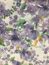 Purple Iris White Background Cotton Fabric Quilt Sew BTY OOP