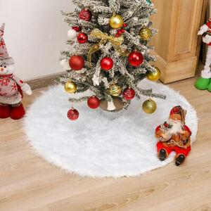 80cm Christmas Tree Long Snow Plush Skirt Base Floor Mat Cover XMAS Party Decor