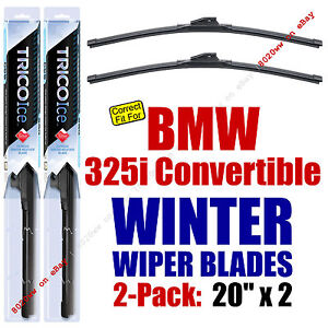 WINTER Wipers 2pk Premium fit 1992-1993 BMW 325i Convertible 35200x2