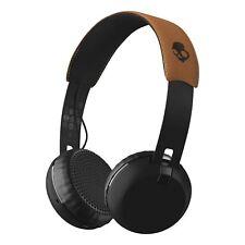 Skullcandy Grind Bluetooth Wireless On-Ear Headphone with Built-In Mic Black/Tan