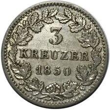 ALLEMAGNE BAVIÈRE 3 KREUZER 1850