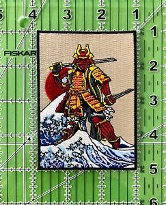 The Great Samurai off Kanagawa Iron on/Sew on Patch, Samurai Patch