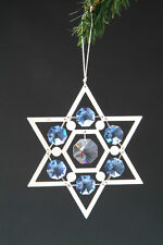 "SWAROVSKI CRYSTAL ELEMENTS ""Star of David"" FIGURINE - ORNAMENT SILVE PLATED"