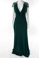 Reem Acra Sleeveless Jade Serenity Gown Size 12 New $3000 10099141