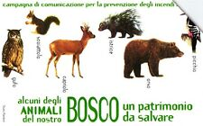 G 1566 68 C&C 3663 SCHEDA TELEFONICA USATA BOSCO DA SALVARE ANIMALI