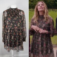 Zara Floral Mini Dress Size Large Ruffles Frills ASO Alexis Rose Schitt's Creek