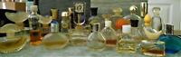 lot 25pc Vintage Perfume Mini Bottle Klein Mondi Cartier Evyan Oscar 50's-90's