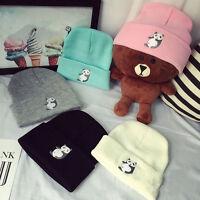 Fashion Men Women Knit Ski Cap Hip-Hop Winter Warm Panda Unisex Wool Hat NEW qkl