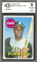 Roberto Clemente Pittsburgh Pirates Card 1969 Topps #50 BGS BCCG 9