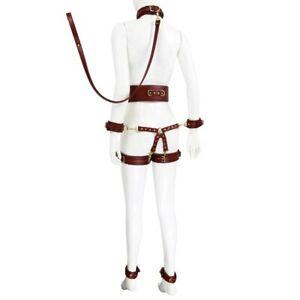 Sex Toy Bondage Kit Erotic Restraint collar & cuffs & waistband &connection BDSM