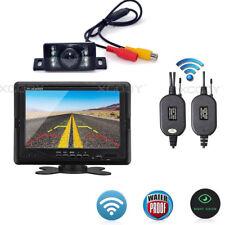 WIRELESS CAR TRUCK REAR VIEW BACKUP 7″ LCD MONITOR + IR REVERSING CAMERA KIT
