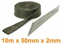 Auspuff Hitzeschutz Thermoband Titan  10m 50mmx2mm bis 900°C