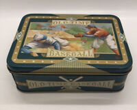 """Vtg Collectible OLD TIME BASEBALL Collectors Tin (empty) 5""""x3 1/2""""x1 3/4"""""""
