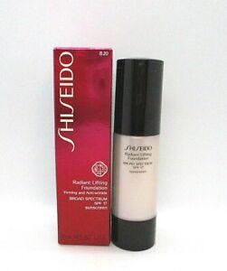 Shiseido Radiant Lifting Foundation SPF 17 ~ B20 Natural Light Beige~ 1.2 oz