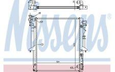 NISSENS Radiador, refrigeración del motor MITSUBISHI L CHALLENGER 62896