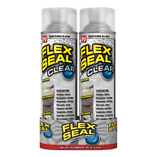 Spray Sealant Flex Seal Rubber Coating Liquid SEALS WET DRY Areas Clear 2-pack