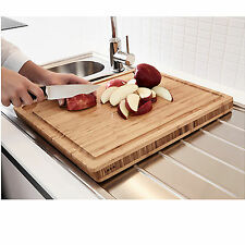 NEW IKEA Thick Bamboo Wooden Kitchen Chopping Cutting Board 45x36cm
