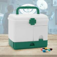 Portable First Aid Box Emergency Case Safe Lockable Medicine Storage Box