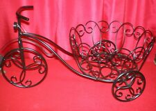 New Biicycle Planter Home Decor Durable Wrought Iron Rust Resistant