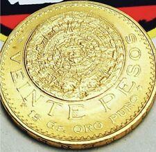1959 Mexico Gold 20 Pesos Viente Pesos .4823 AGW Tad under 1/2 oz of Gold