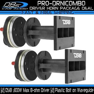 """2 DS18 PRO-DRN1 1.75"""" VC Neodymium Compression Drivers 600W 8 ohm with Waveguide"""