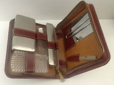 Vintage Gillette Razor Grooming Toiletries Travel Bag Kit