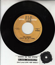 "THE DOORS Riders On The Storm & Love Her Madly 7"" 45 record NEW + juke box strip"