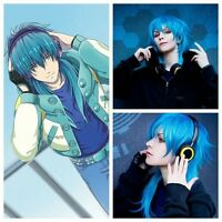 wholesale Haircut Blue Cosplay DRAMAtical Murder DMMD Seragaki aoba Fashion wigs