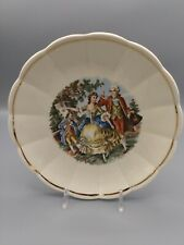 """W.S. George Courting Couple Vintage Plate W Gold Trim 7.5"""""""