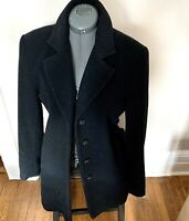 Jones New York Black Wool Coat Lined ~ Size 14