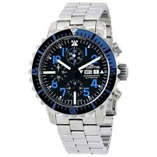 NEW Fortis B-42 Marinemaster Blue Chronograph Swiss Automatic Watch 671.15.45 M