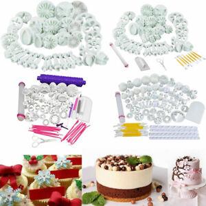 Fondant Ausstecher Set Marzipan Kuchen Ausstechform Blumen Stempel Tortendeko