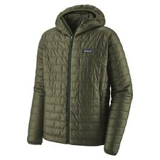Patagonia Mens NANO PUFF Hoody Jacket INDUSTRIAL GREEN XL. $230 Hooded Primaloft