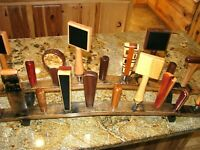 Kentucky whiskey barrel stave 19 beer tap handle two-tiered display stand