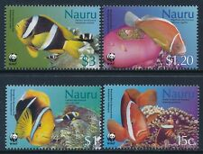 2003 NAURU WWF SEA ANEMONES & ANEMONES FISHES SET OF 4 FINE MINT MNH