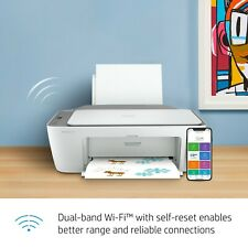New Hp Deskjet 2722 All-in-One Printer, White   Free Shipping