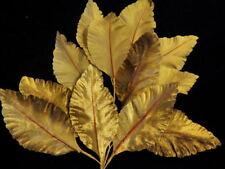 "Vintage Millinery Flower 4"" Leaf Velvet Brown Tan Lot for Hat Wedding Hair K49"