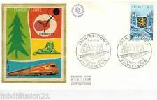 1977**ENVELOPPE SOIE**FDC 1°JOUR**REGIONS-FRANCHE-COMTE**TIMBRE Y/T 1916