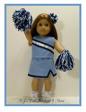 Lt Blue & Navy Cheerleader Set fits American Girl Doll