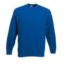 Uomo SCREEN STAR (DA FRUIT OF THE LOOM ) Classico semplice Felpa - blu reale