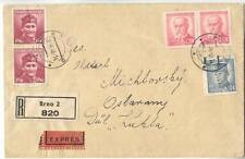 CZECHOSLOVAKIA BRNO-2 20.III 1946 REGISTERED EXPRES COVER