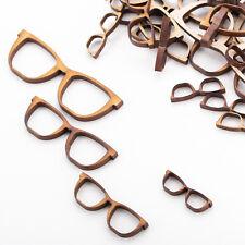 Wooden MDF Shapes Crafts Glasses Scrapbook Embellishments Decoration Card Making