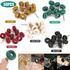 50Pcs Abrasive Polishing Wheel 22mm Buffing Grinding Kit For Dremel Rotary Tool