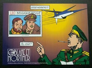 Belgium France Joint Issue Comic 2004 Cartoon (ms) MNH