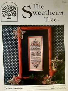 The Sweetheart Tree- THE PRICE OF FREEDOM Chart &  Star Embellishments