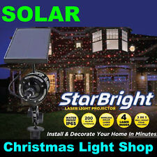 SOLAR Star Bright Laser Light Projector Moving Red Green Dot Outdoor Christmas